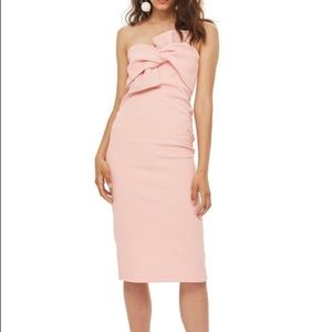 Topshop Strapless Bow Dress